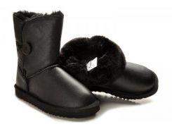 Детские сапоги Baby Bailey Button Leather размер 23 Черные (Ua_drop_114653-23)