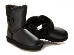 Детские сапоги UGG Baby Bailey Button Leather 25 Black (114653-25)