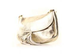 Сумка седельная кожаная итальянская Casa Familia BIL0-227 золотистый