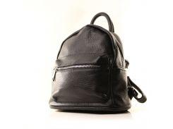 Рюкзак кожаный итальянский Casa Familia BIC0-701 черный