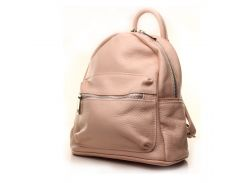 Рюкзак кожаный итальянский Casa Familia BIC0-717 розовый