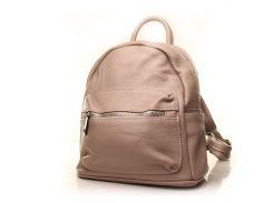 Рюкзак кожаный итальянский Casa Familia BIC0-706 бежевый