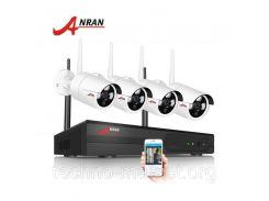 Комплект WiFi видеонаблюдения Anran 4сh (AR-K04W13-03NW) White
