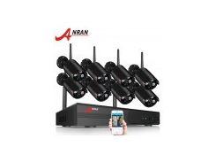 Комплект WiFi видеонаблюдения Anran 8сh 1080P (AR-03NB)