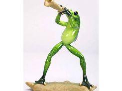 Статуэтка декоративная quotЛягушка Трубачquot 17.5см, искусственный камень