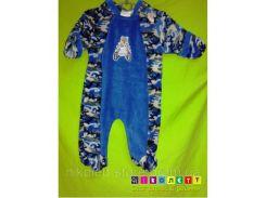 Комбез Детский MON PETIT Флисовый Человечек Пижама