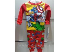 Пижама Детская MARVEL COMICS Трикотажная На Мальчика