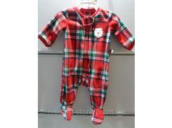 Слипер Флисовый Человечек НГ тематика Пижама детская из Америки