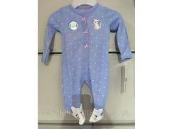 Слипер Человечек Детский Трикотажный Пижама Детская