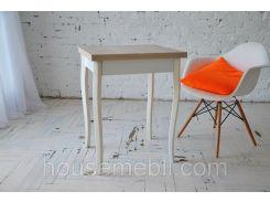 Стол кухонный раскладной Тавол Компакт ноги резные деревянные 50 см х 60 см х 75 см  Ясень