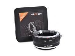Переходник,адаптер K&F Мinolta MD-E mount(Sony NEX)