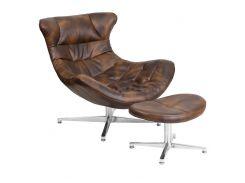 Кресло SDM Мексика с оттоманкой Коричневый