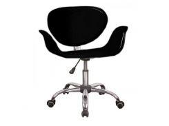 Кресло SDM Студио на колесах поворотное регулируемое по высоте кожзам Черный