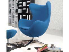 Кресло SDM Эгг (Egg) с наклонной спинкой поворотное ткань Синий