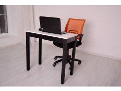 Мини компьютерный стол Тавол Пиколо ножки натуральное дерево 80смх40смх75см Черно-Белый