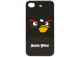 Чехол-накладка Gear4 Angry Birds Protective Case Bomber Black for iPhone 4/4S (ICAB404G)