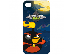 Чехол-накладка Gear4 Angry Birds Protective Case Space Bird Fire Bomb for iPhone 4/4S (ICAS405G)