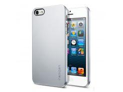 Чехол-накладка SGP Case Ultra Thin Air Series Satin Silver for iPhone SE/5/5S (SGP09538)