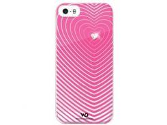 Чехол-накладка White Diamonds Heartbeat Pink for iPhone SE/5/5S (1210HBT41)