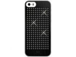 Чехол-накладка White Diamonds Rock Black for iPhone SE/5/5S (1210RCK6)