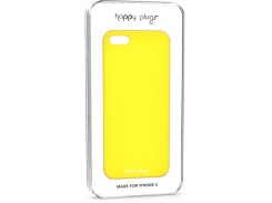Чехол-накладка Happy Plugs Ultra Thin Case Yellow for iPhone SE/5/5S (8806)