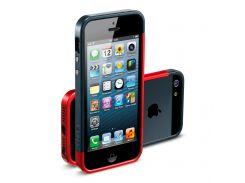Чехол SGP Case Linear EX Slim Metal Series Metal Red for iPhone 5 (SGP10084)