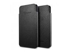Чехол SGP Leather pouch Crumena Slim Black for iPhone 5 (SGP09515)