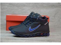 Детские кожаные зимние кроссовки Nike  N 2258