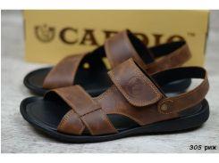 Мужские кожаные сандалии 305 риж