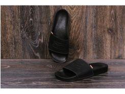 Мужские кожаные  шлепанцы Levis black
