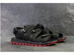 Мужские кожаные  шлепанцы сандалии Nike Summer life black