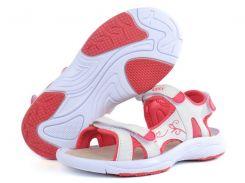 Сандалии женские спортивные Badoxx Польша белые с розовым на липучках