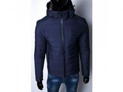 Куртка мужская зимняя SLS 15441 на меху синяя