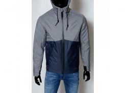 Куртка мужская демисезонная FR 1591 синяя с серым