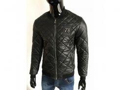 Куртка бомбер мужская демисезонная FP 1548 черная реплика