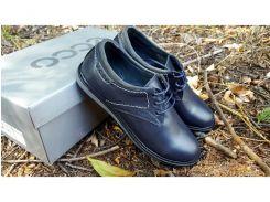 Подростковые кожаные туфли Ecco Anser blue 36.37.38.39