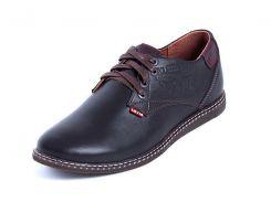 Мужские кожаные туфли Levis Strauss Choсolate