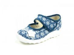 Детские тапочки Waldi:244-582 Синий-Серый-Цветок