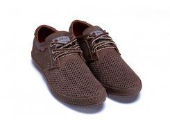 Мужские кожаные летние туфли, перфорация 180-2-4 лате