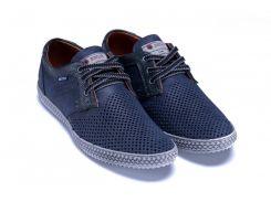 Мужские кожаные летние туфли, перфорация 180-3-3 син
