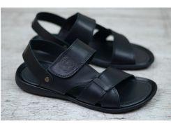 Мужские кожаные сандалии 305 чер