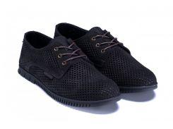 Мужские кожаные летние туфли, перфорация ZG чорн