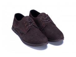 Мужские кожаные летние туфли, перфорация ZG кор