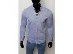 Рубашка мужская льняная Figo 17038