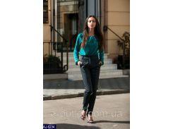 Женские классические брюки AJ-6234 клетка