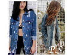 Куртка женская джинсовая V-6082