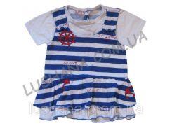 Платье Морячечка на рост 68-74 см - Кулир