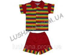 Комплект рубашка и шорты Полоска на рост 80-86 см - Кулир