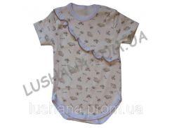 Бодик - футболка Рюш на рост 80-86 см - Интерлок