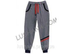 Серые штаны с карманами на рост 128-134 см - Начёс
